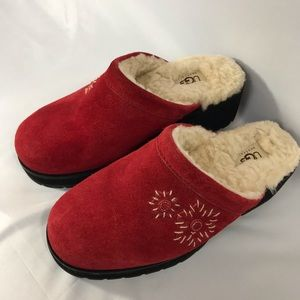 *UGG* Cranberry Suede Clog Mules